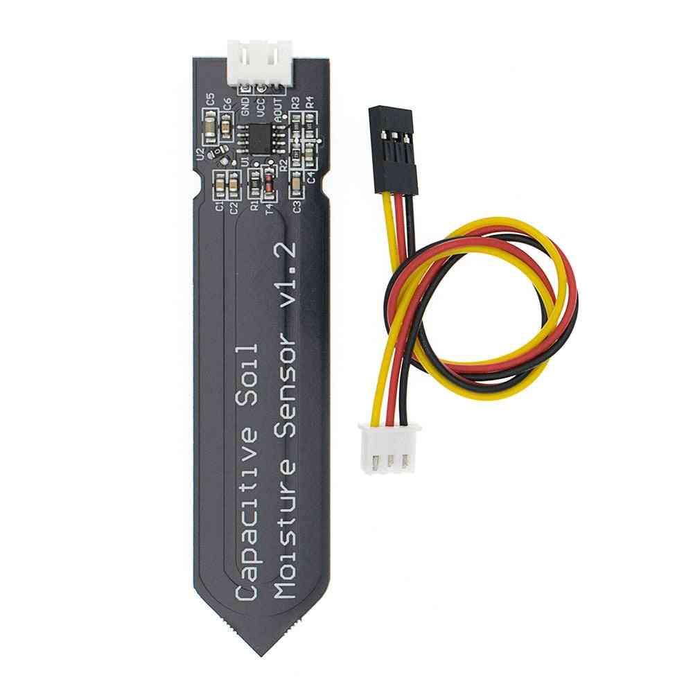 Capacitive Soil Moisture Sensor Module, Corrosion Resistant Wide Voltage Wire Analog Sensors
