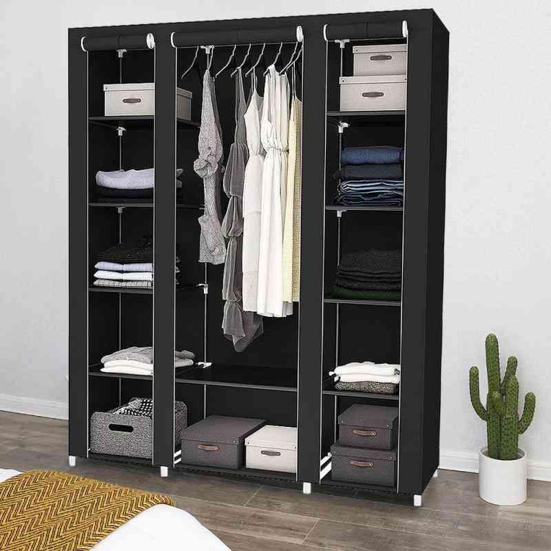 Non-woven Cabinet Fold Portable Storage Furniture Anti Dust Closet
