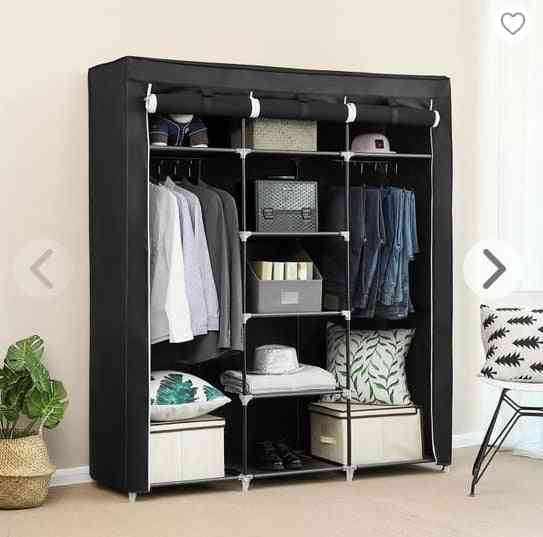 Non-woven Cloth Wardrobe, Bedroom Folding Clothing Storage Cabinet