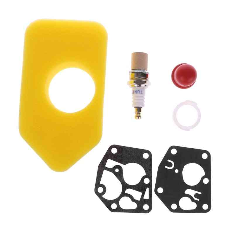Carb Gasket, Air Filter,  Primer Bulb Assembly And  Spark Plug-replacement Parts For Briggs & Stratton Engine