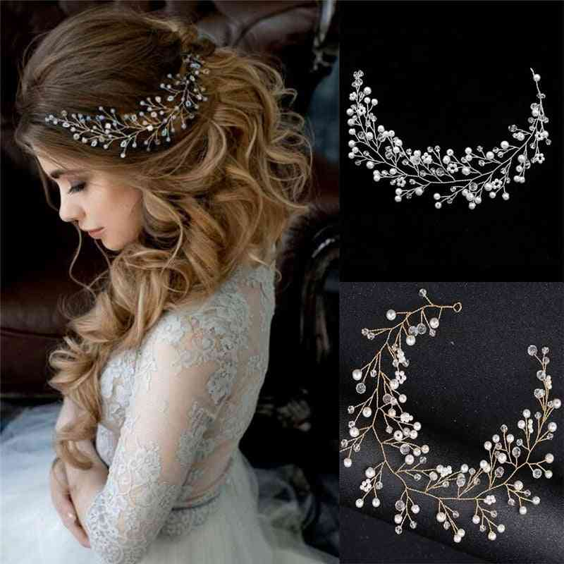 Simulated Pearl Bride Wedding Headpieces, Hair Jewelry