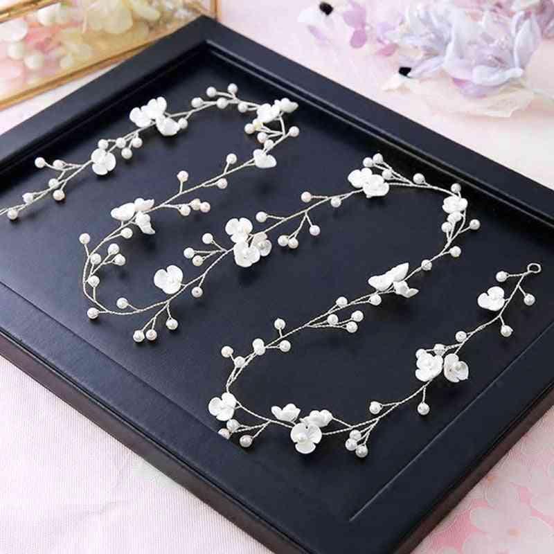 Crystal Pearl, Flower Headband, Beads Decoration, Hair