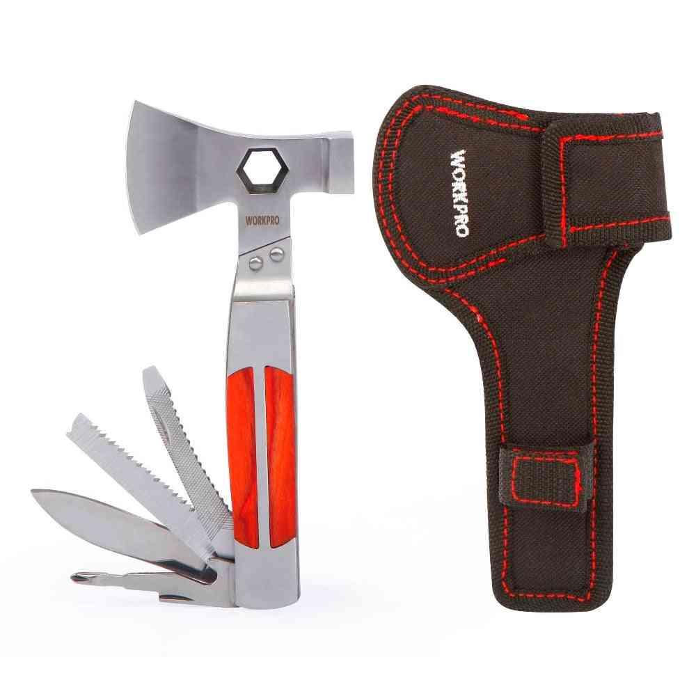 12-in-1 Multi Twin Axe/ Hammer, Pocket Multifunctional Tool