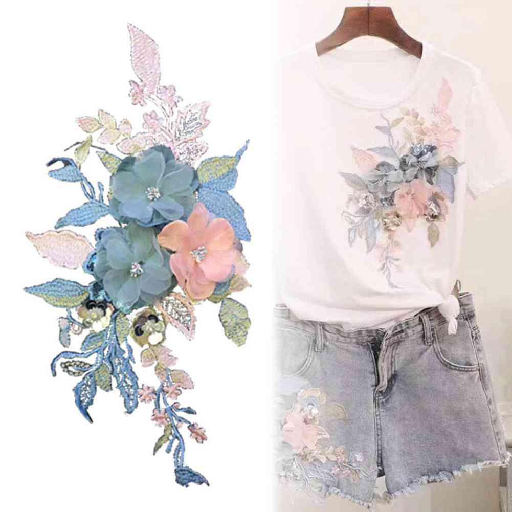 Flower Embroidery Patch, Applique Clothing T-shirt, Hat Sewing Badge