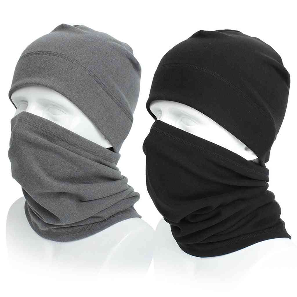 Warm Scarf Winter Knit Hat / Wool Cap, Washable And Reusable Mouth Face Mask