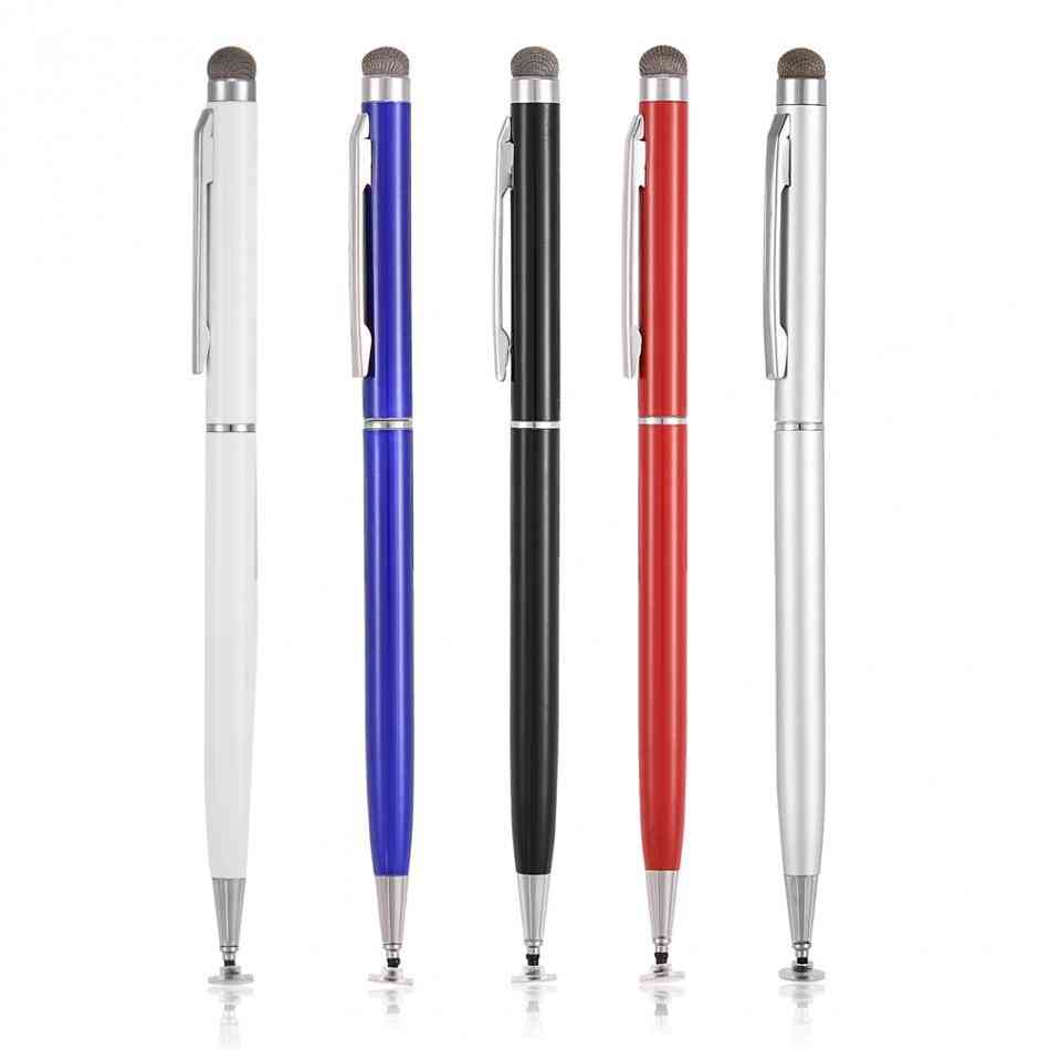 2 In 1 Capacitive Mobile Phone Touch Screen Stylus Pen With Cloth Head
