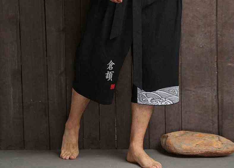 Kimono Traditional Casual Loose Trousers Pants's