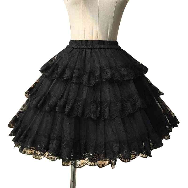 Sweet Cosplay, Pettiskirt Lace Lolita, Petticoat Tutu Skirt