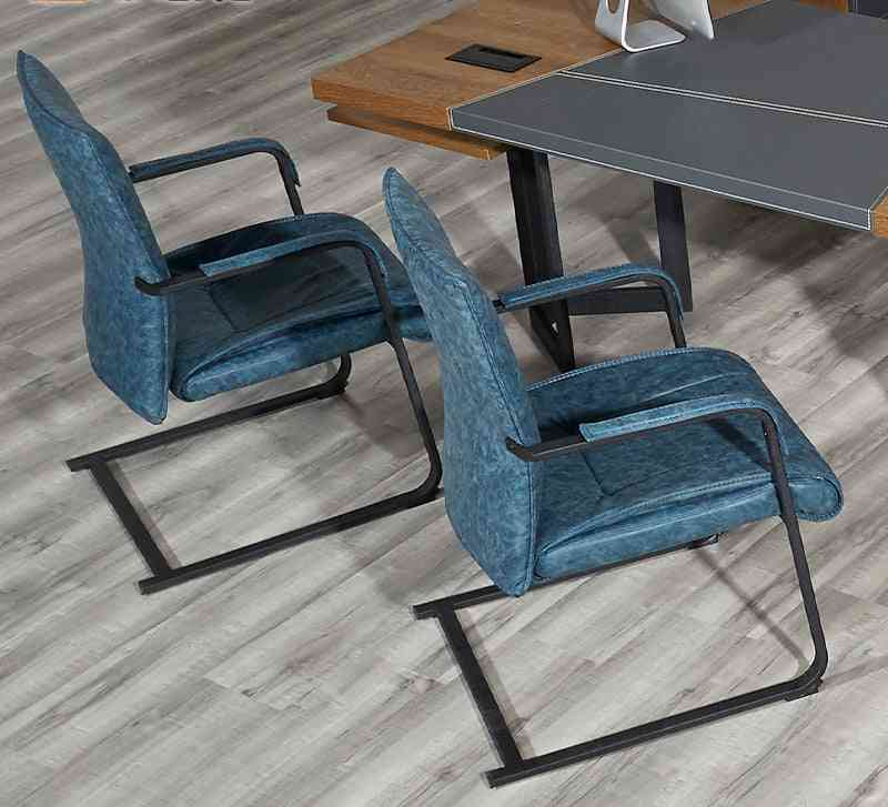 Office Conference Meeting Leather Chair, Visitor Armrest Chairs