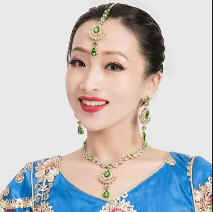 India Stage, Prop Dance Accessory- Headwear, Earrings, Necklace