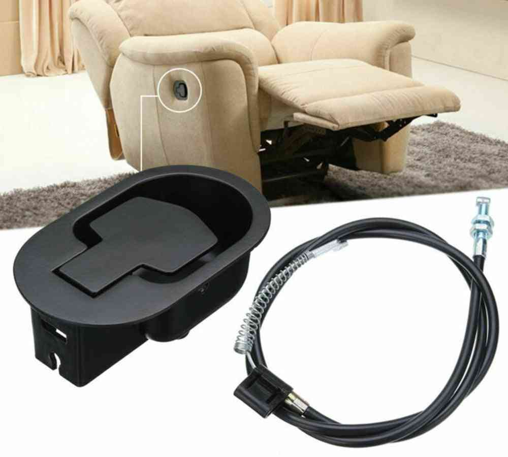 Cable Recliner Handle Set Trigger Smooth Wide Use Home Metal Chair/ Sofa Easy Install Release Lever