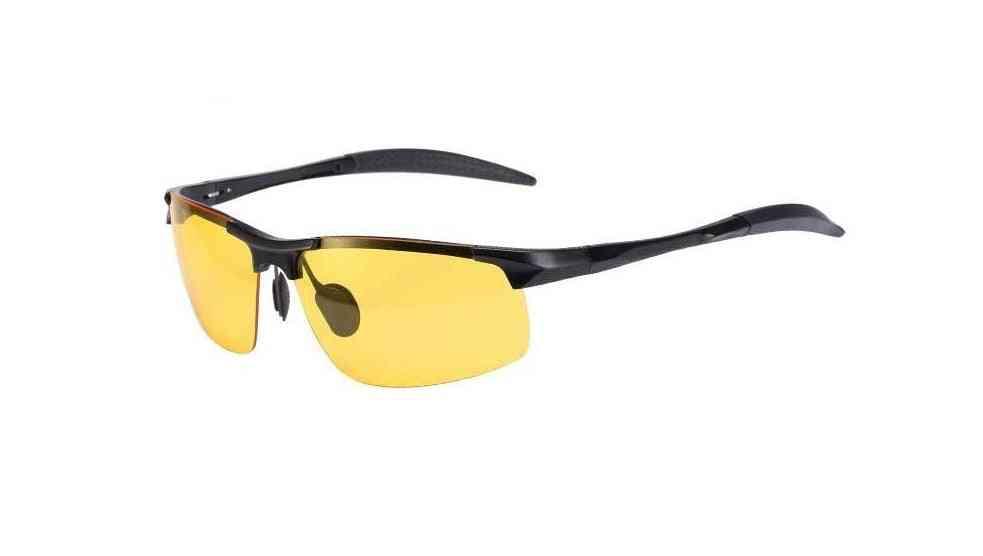 Anti-glare Polarized Lens, Metal Frame Goggles