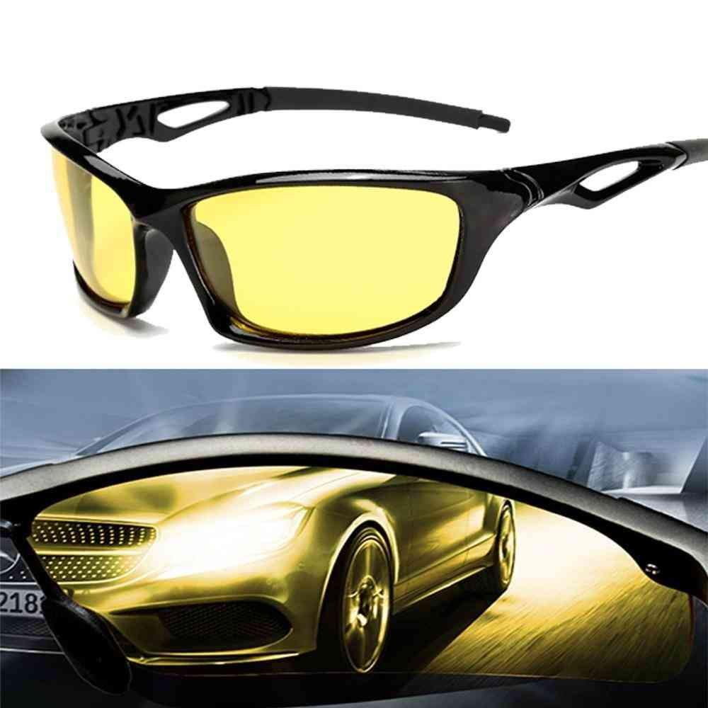 Night Vision- Polarized Yellow Lenses, Driving Sunglass, Goggles