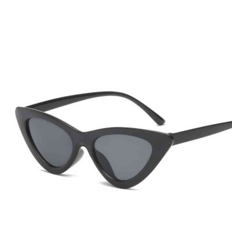 Cute Retro Cat Eye Sunglasses, Small Triangle Vintage Cheap Sun Glass