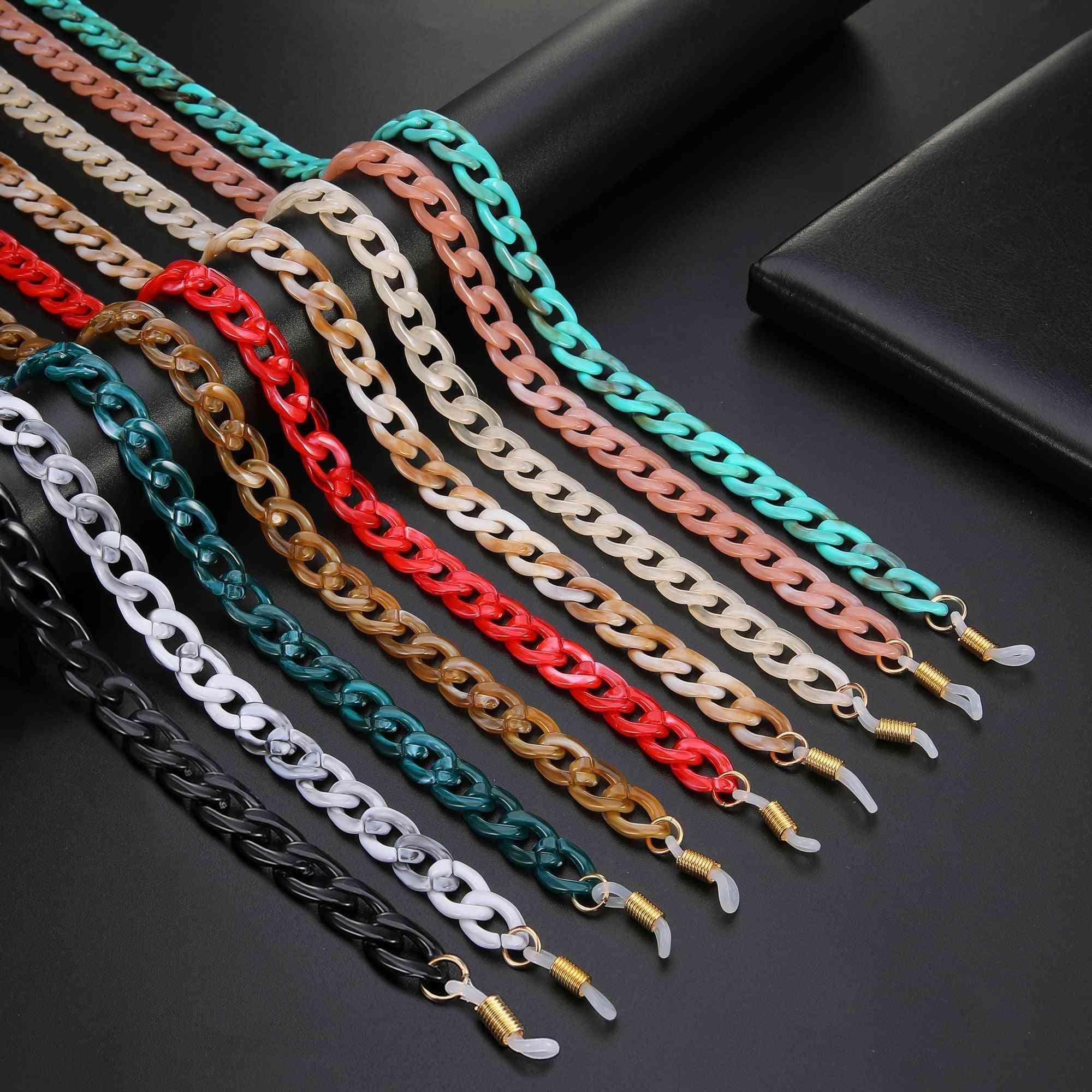 Sunglasses Chains, Anti-slip Reading Glasses Chain Cord Holder & Neck Strap Rope