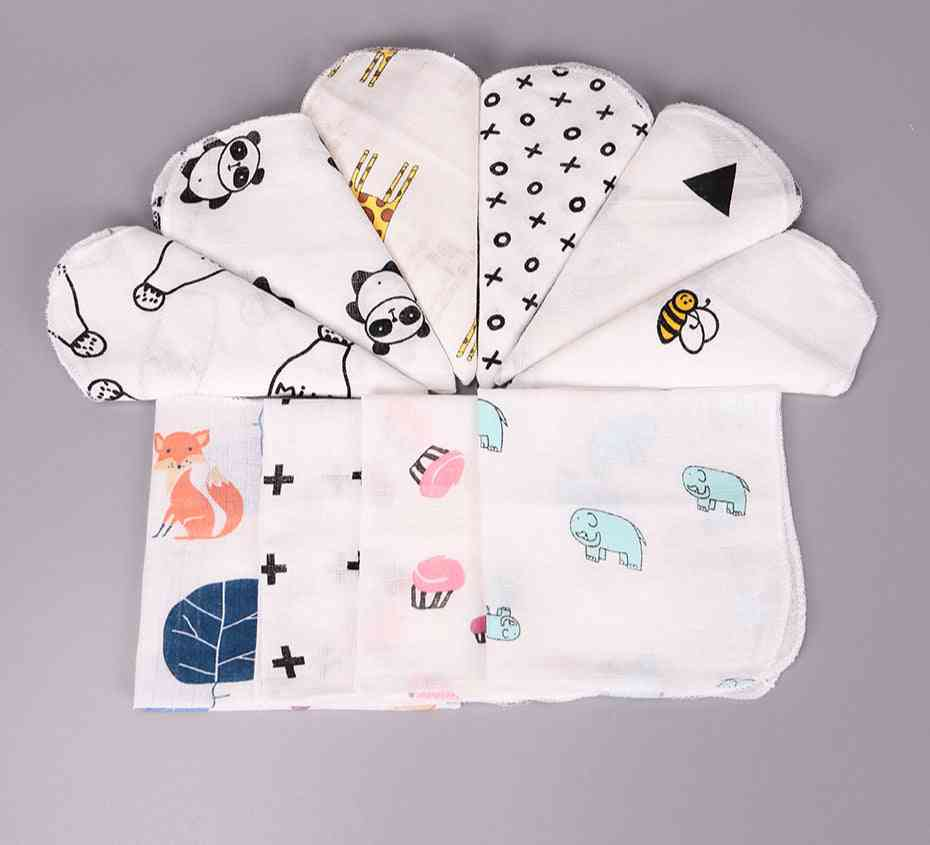 Baby Cotton Muslin Towel Two Layers Wipe Handkerchiefs