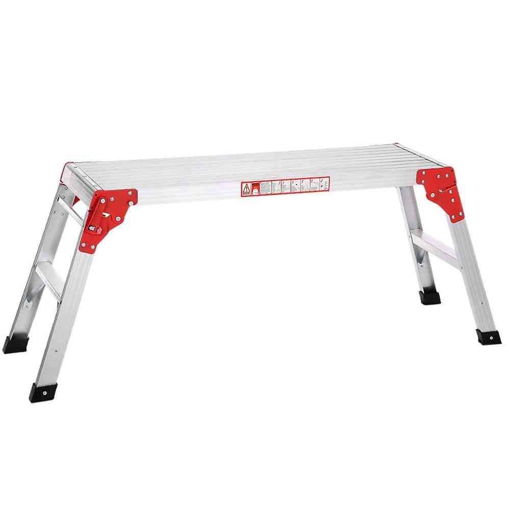 Folding Aluminum Hop-up Working Bench, Step Ladder Anti-slip Tools