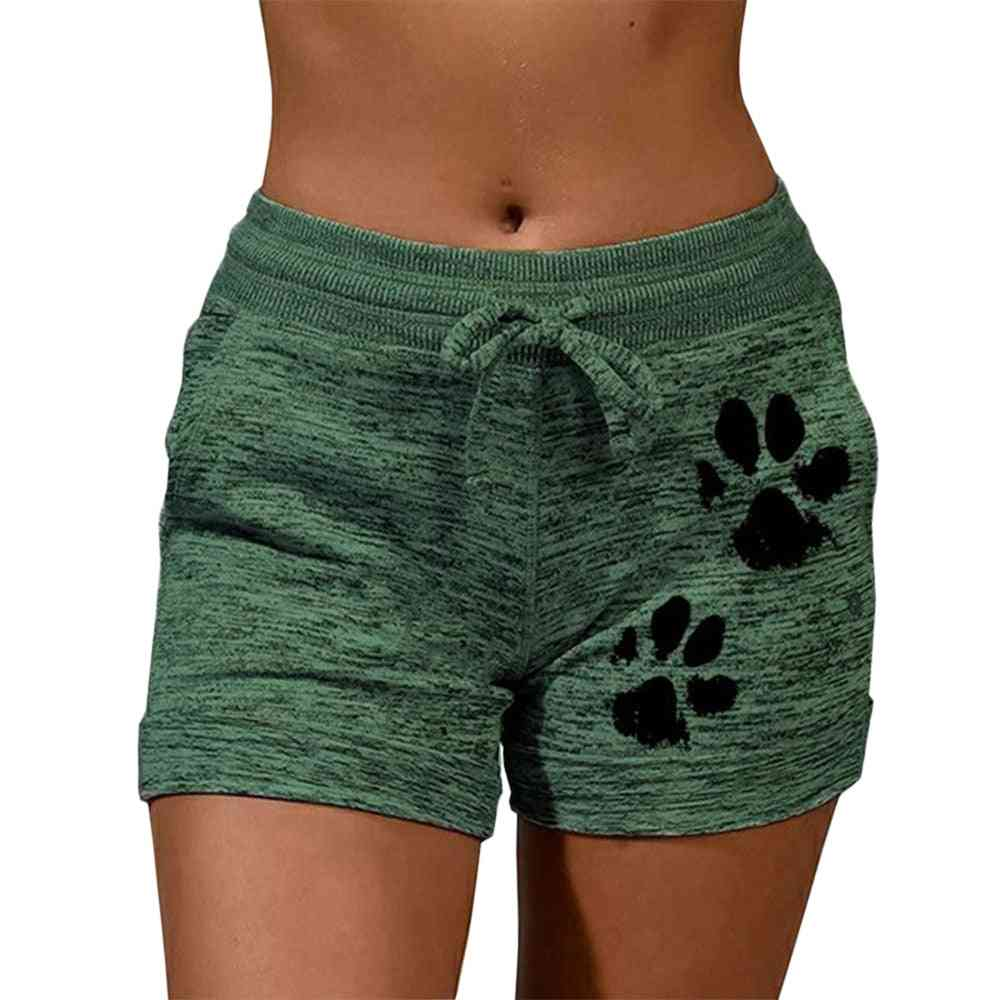 Cat Paw Print, Fast Drying Cotton Shorts