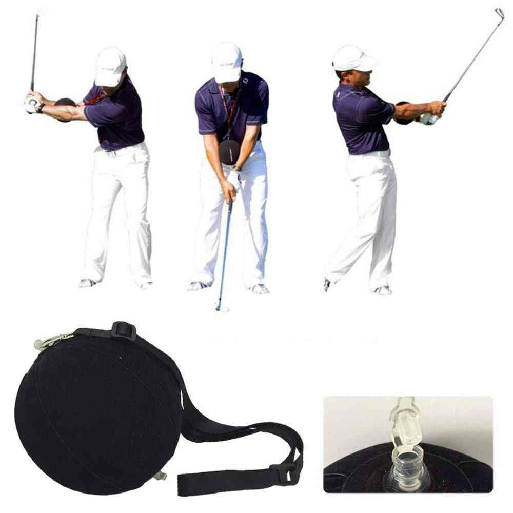 Golf Swing Trainer Ball With Smart Inflatable Assist - Training Tool