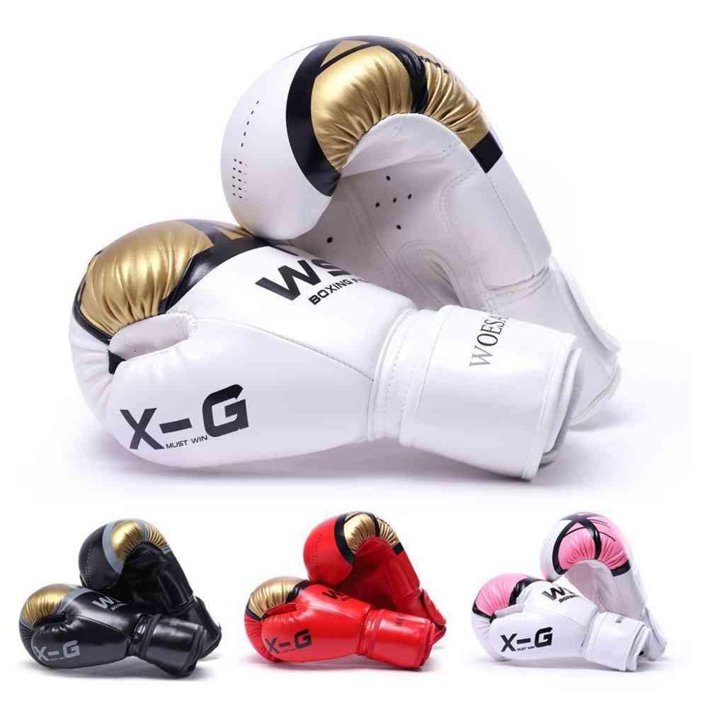 Men Women Pu Karate, Kick Boxing Gloves