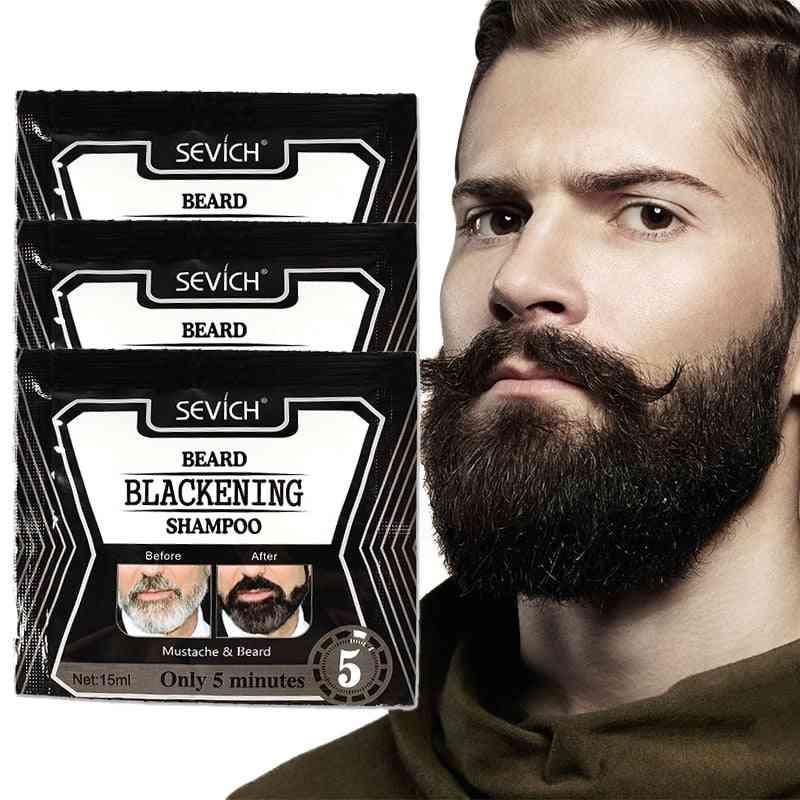 Natural Faster Herb Blackening Beard Shampoo Dye