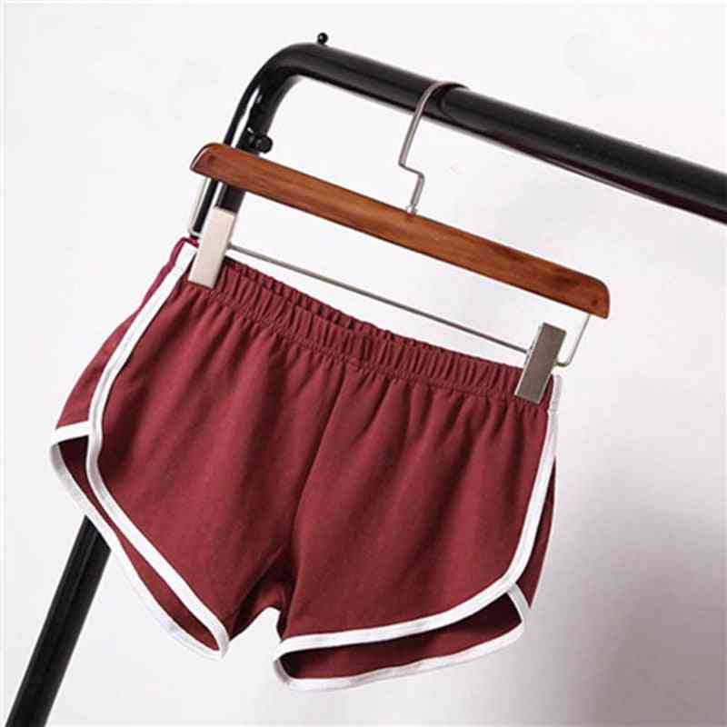 Summer Casual, Contrast Binding, Side Split, Elastic Waist, Short Pants