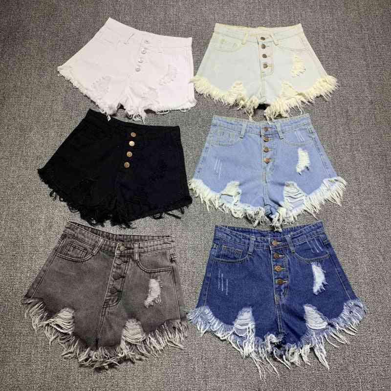 Summer Casual, Fur-lined & Leg-openings, Denim Booty, Short Jeans