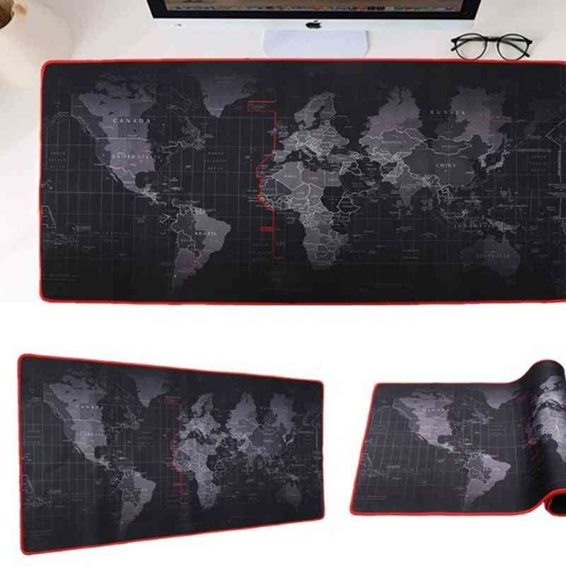 Gaming Large Mouse Pad & Computer Rubber, World Map, Keyboard Desk Mat