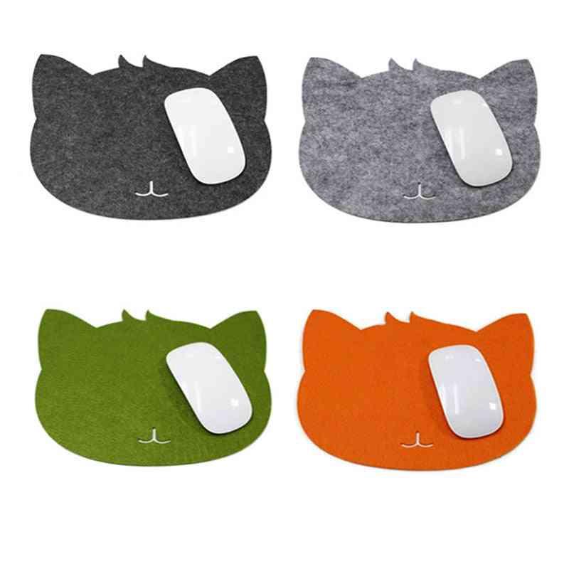 Cat Shape, Anti-slip, Mice Mat Mousepad For Laptop, Pc