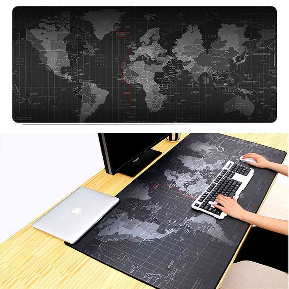 Natural Rubber, Extra Large Mouse Pad, Old World Map Printed, Anti-slip  Mat For Computer