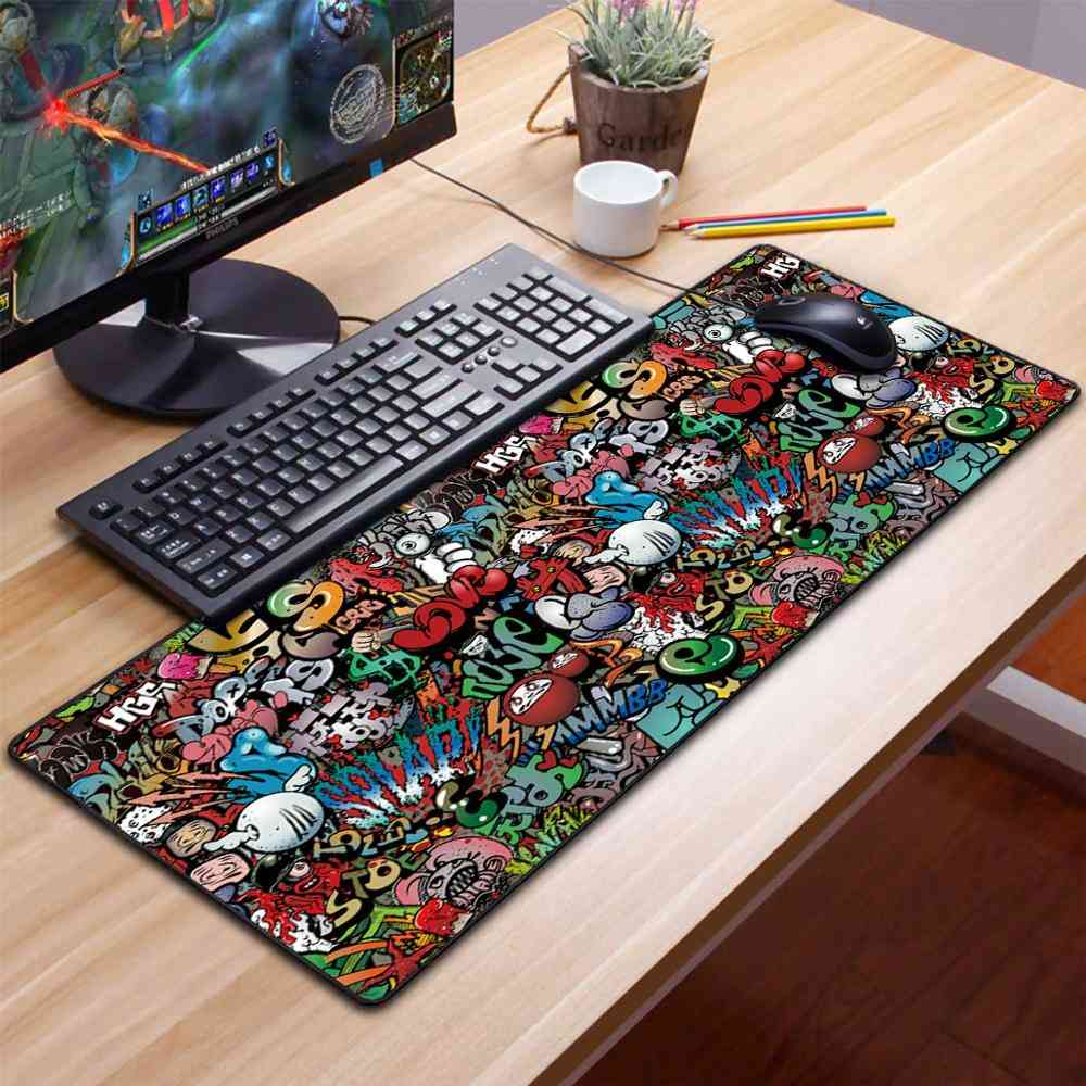 Computer Gaming, Large Mouse Carpet, Mat Keyboard Pad For Pc, Desk