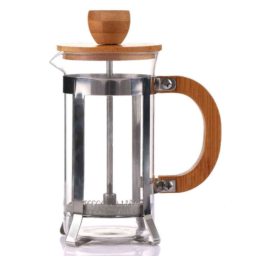 Filtration Coffee Maker Glass Pot Wooden Cover High Quality Elegant Durable