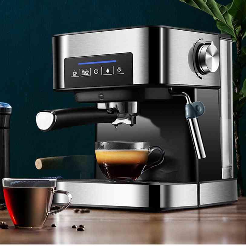 Electric Semi Automatic High Pressure Extraction Double Temperature Control Coffee Machine