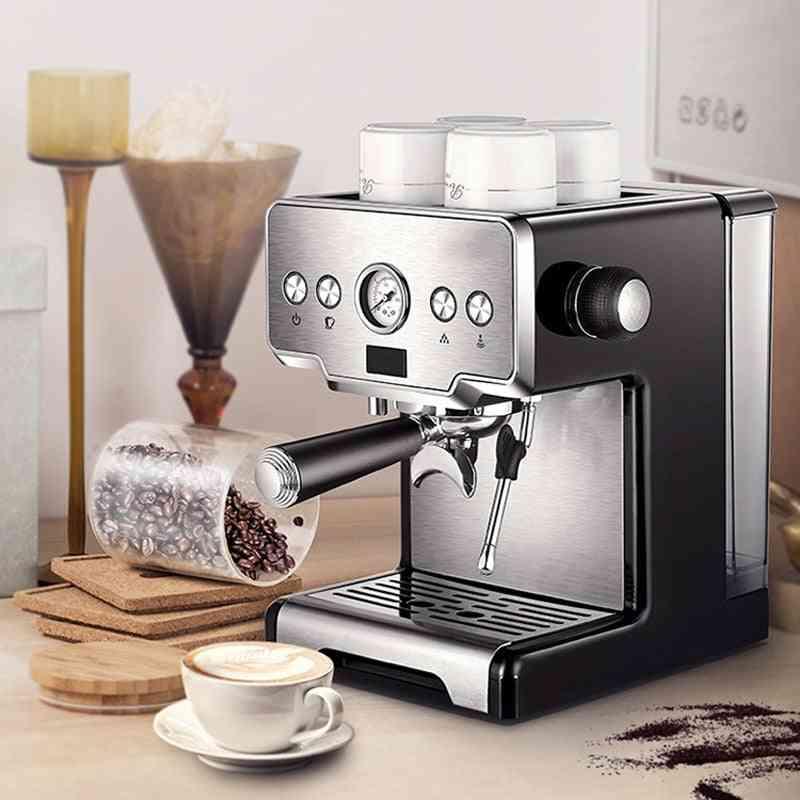 Espresso Coffee Maker Machine, Stainless Steel 15-bars Semi-automatic