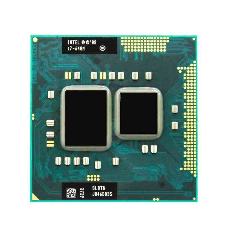 Intel Core I7 640m 2.8ghz 2-core 4m Processeur Socket G1 Portable Cpu Slbtn