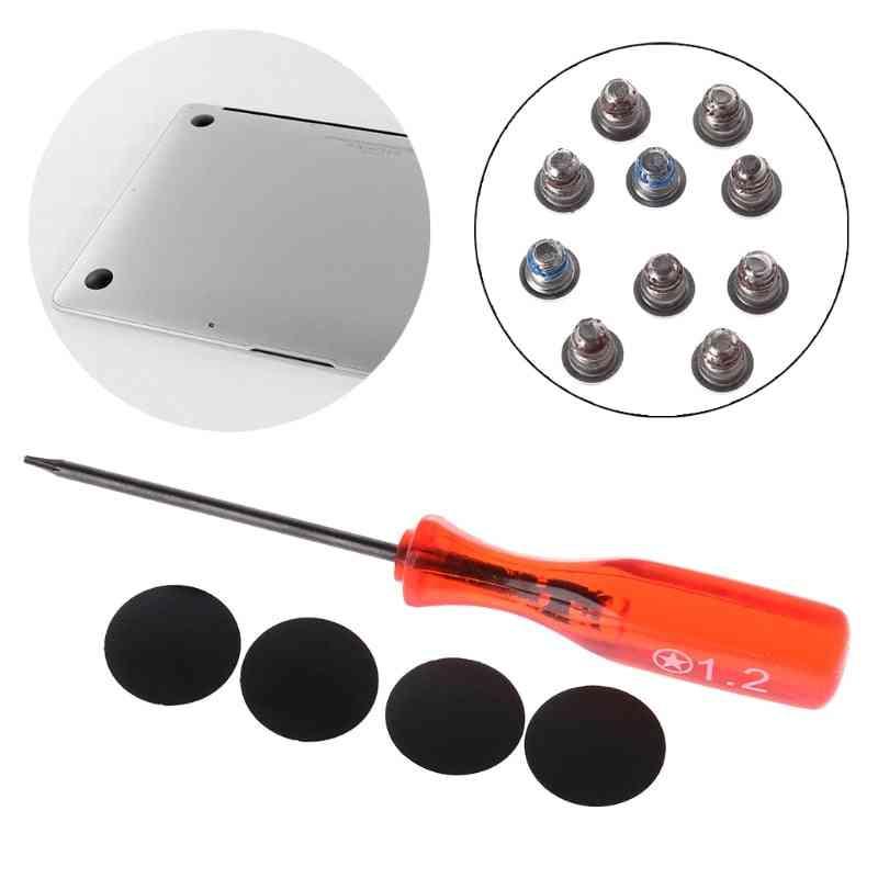 Bottom Case Cover Plastic (no Rubber) +screws Set+tool For Macbook