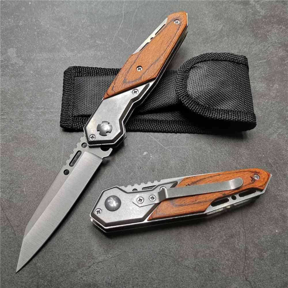 Folding Knife, Steel Blade Edc Pocket Tactical Camping Knives