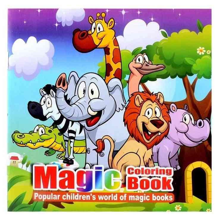Cute Animal Style Secret Garden Magic Coloring Book