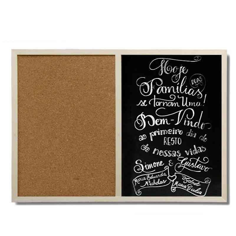 Combination Magnetic Bulletin Cork Blackboard For Note Message, Chalkboard