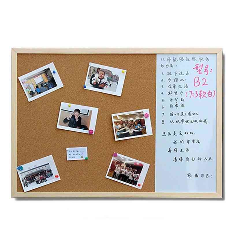 Whiteboard Cork Boards, Combination 3:1 Dry Wipe Bulletin Drawing Board