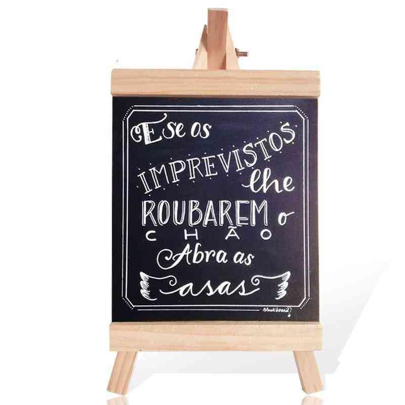 Pine Wood Easel Wooden Memo Desktop Message Blackboard / Chalkboard