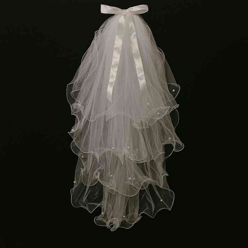 Bridal Veil With Comb 2-layers Accessories