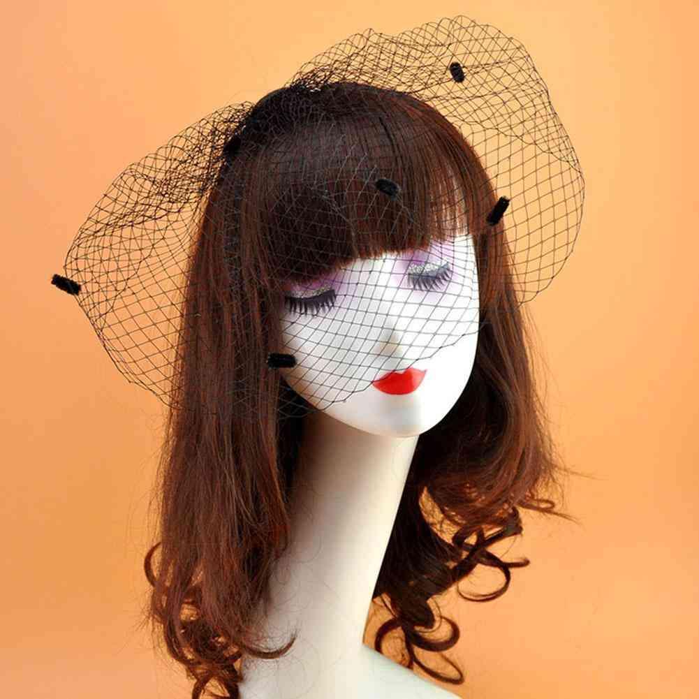 Net Birdcage Veils Charming Halloween Hats For Fascinator Face