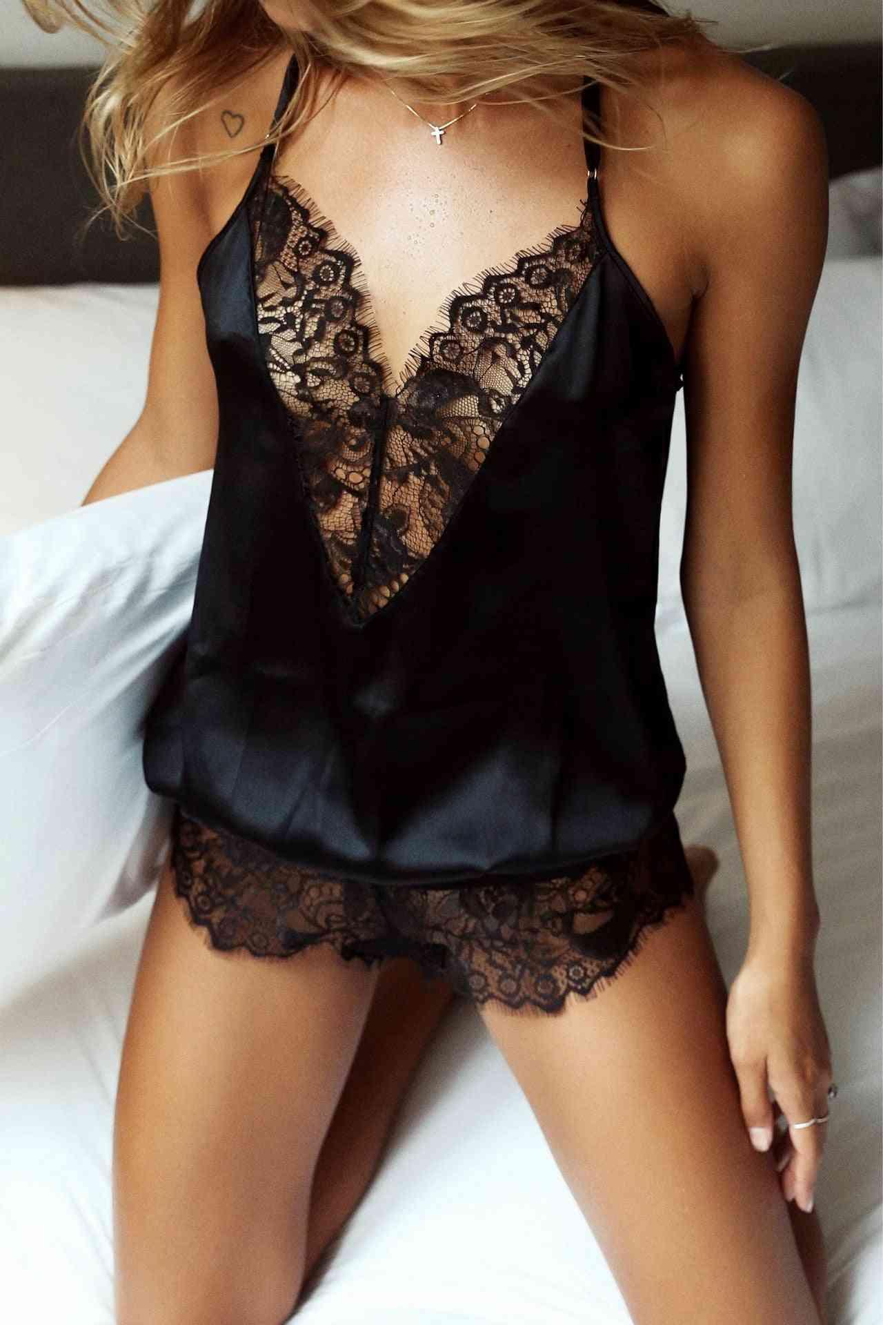 Lounge Lingerie Sleepwear Dress Lace Underwear Sling Girl