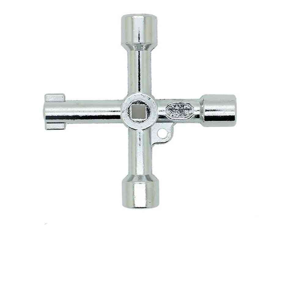 4 In 1 Universal Cross, Triangle Key For Train Electrical Elevator, Cabinet Valve