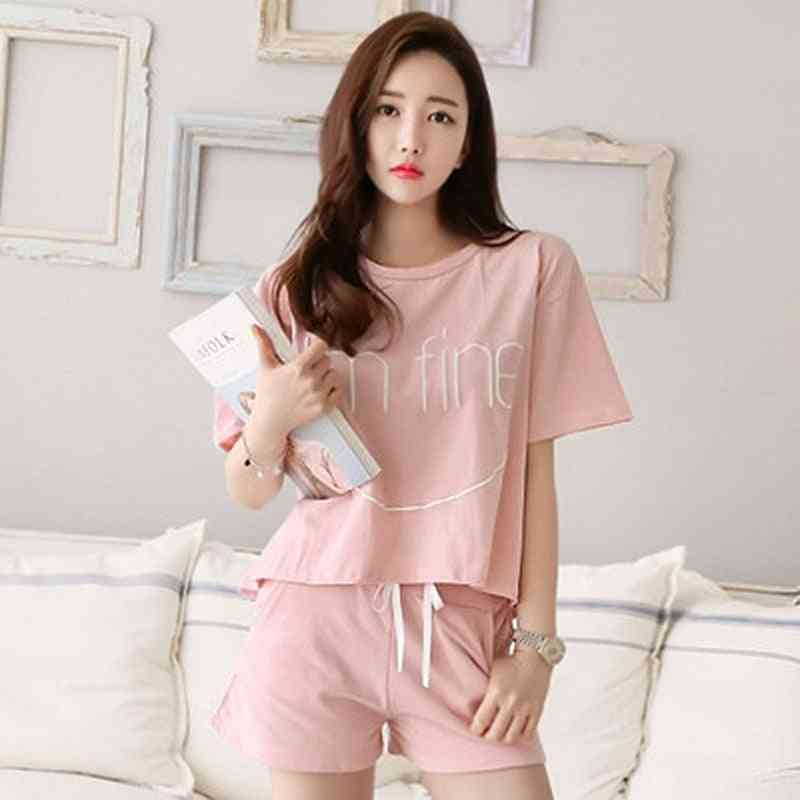 Women Pajamas Set Cute Strawberry Short Sleepwear Comfortable Clothes