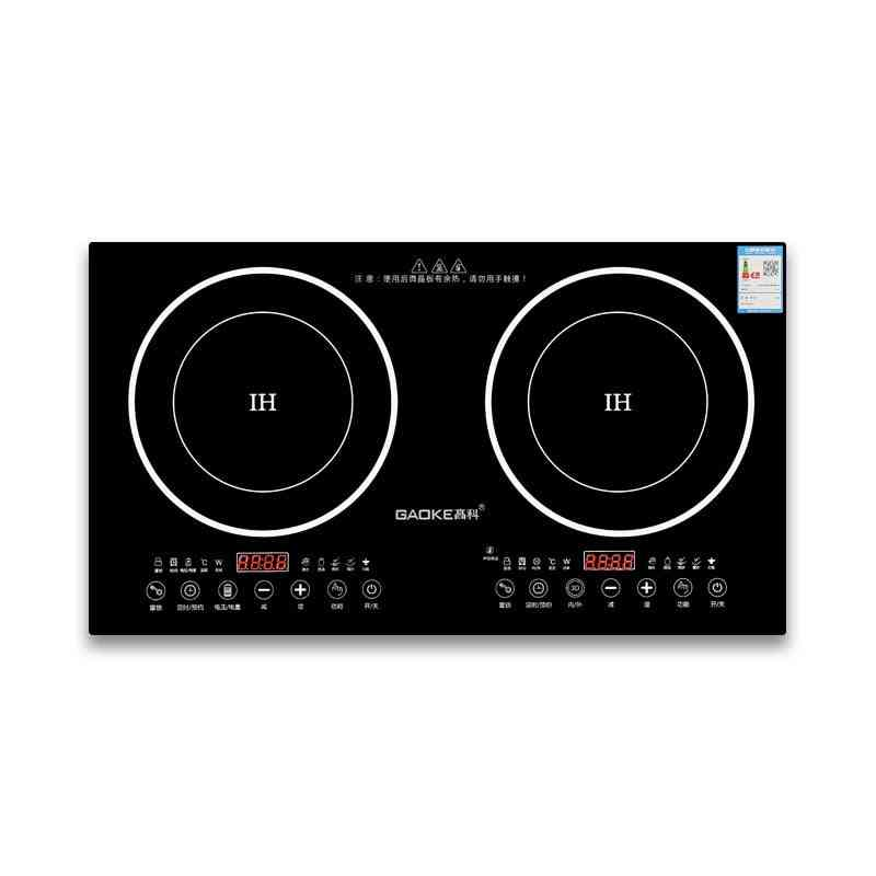 Double Pot Embedded Dual Cooker Electric Built-in Induction Hobs