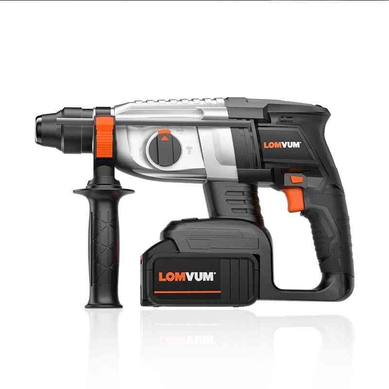 Brushless Rotary Wireless Electric Hammer Cordless Breaker Drill Powerful Tools