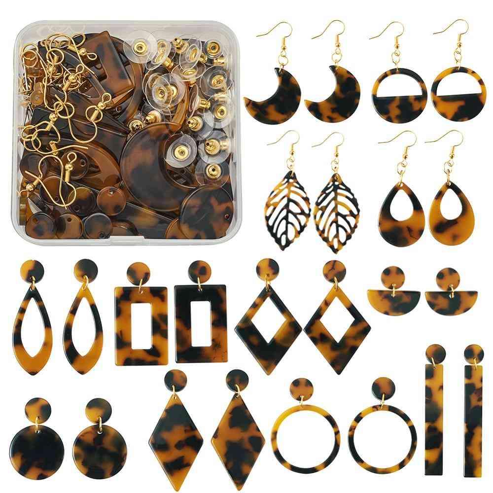Resin Pendants Diy Earring Kit