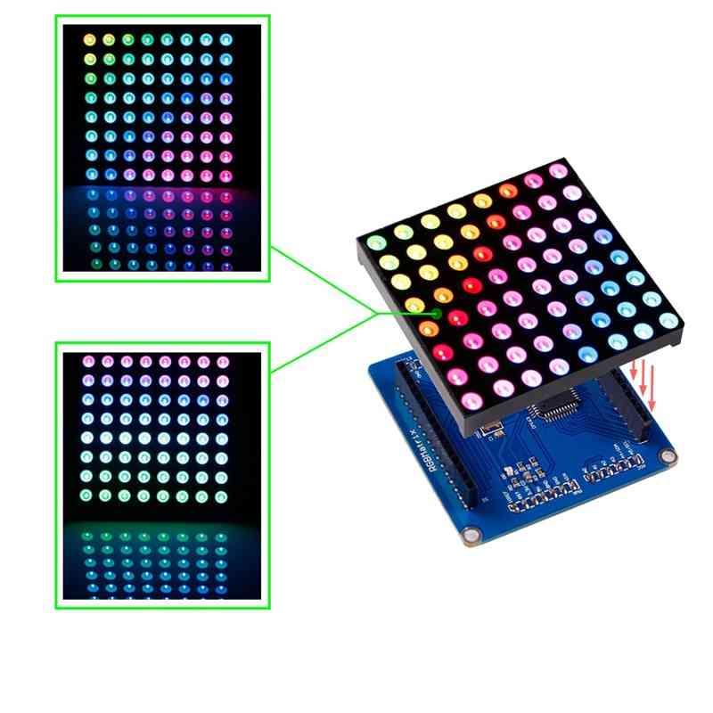 Sunfounder 8x8 Full Color Rgb Led Matrix Driver Shield + Rgb Matrix Screen For Arduino